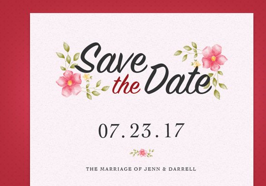 Heather Collection - Save the Date
