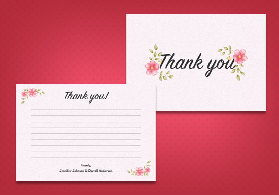 Heather Collection - Thank you Card