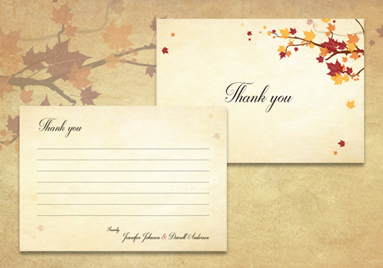 Lauren Collection - Thank you Card