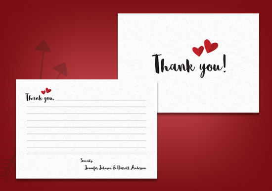 Meghan Collection - Thank you Card